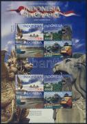 Joint stamp issue Indonesia-Singapore minisheet, Látnivalók kisív, Sehenswürdigkeiten Zd-Kleinbogen