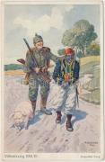 Doppelter Fang / WWI military card, double catch s: A.Greiner, Első világháborús katonai lap, dupla zsákmány s: A.Greiner