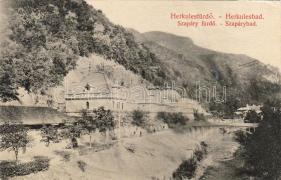 Herkulesfürdő Szapáry fürdő, Eberle Keresztély kiadása, Herkulesfürdő spa