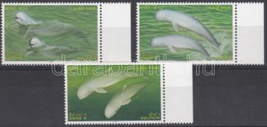Dolphins margin set, Delfinek ívszéli sor, Delphin Satz mit Rand