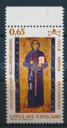 800th anniversary of Order of Friars Minor margin stamp, A ferences rend alapításának 800. évfordulója ívszéli bélyeg, 800. Jahrestag der Approbation der Protoregel des hl. Franziskus Marke mit Rand