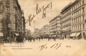 1899 Bécs, Wien, utca, kávézó, 1899 Vienna, Wien, Karntnerstrasse, cafe