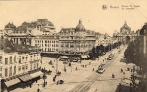 Antwerpen, Anvers; Avenue De Keyser, tram, Chocolat Schuchard, shops