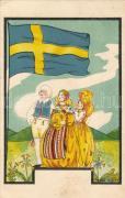 Swedish folklore, litho s: Yvonne Millde