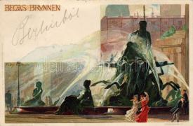 1899 Berlin, Becas fountain, litho s: Kley Karlsrühe
